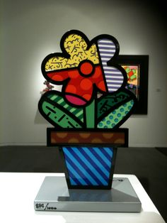 romero britto(1963- ) @Lotte van den Hout gallery I WANT ;)