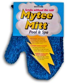 Clean the pool without the elbow grease with the Gladon Mytee Pool and Spa Cleaning Mitt presented by Pool Tool Express. The adult sized mitt is made of soft but abrasive fibers to clean dirt, algae,