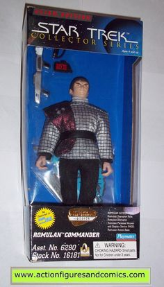 "Playmates Toys STAR TREK: The Next Generation TNG 9 inch collector series action figures for sale to buy 1996 ROMULAN COMMANDER NEW - still factory sealed in the original package box size: 12"" x 6"" x"