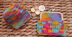 Coin Purse Pattern, Crochet Coin Purse, Purse Patterns, Crochet Bags, Eclipse Solar, Pouch, Wallet, Knitted Hats, Mini