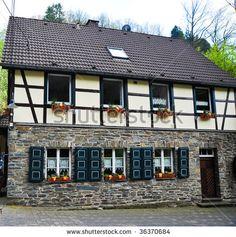 Half timbered German house