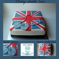 union jack cake (union Flag) Britsh Army welcome home cake
