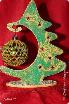 Декор предметов Новый год Декупаж Мои первые ёлочки Краска Салфетки фото 6