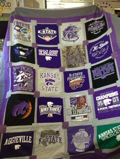 Always wanted to have one of these made with all my old college shirts for keepsake.  My friend Alicia makes them for $200....https://www.facebook.com/pages/Cute-Quilts-by-Alicia/160446313970412