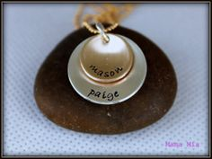 Silver and Gold Layered Cupped Hand Stamped by mamamiatina on Etsy, $51.00
