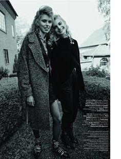 Lulu Leika, Frida Westerlund and Signe Lund Jensen greet fall styled in casual looks by Lisa Lindqvister. Photographer Johnny Kangasniemi flashes the trio for Elle Sweden September Hair by Ali Pirzadeh; Lund, Fashion Photo, Fashion Models, English Summer, Good Poses, Casual Fall, Casual Looks, Editorial Fashion, Sweden