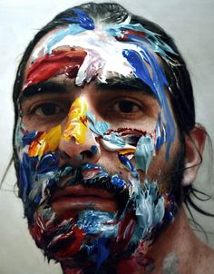 Eloy Morales -paint in my head 6, 2012. oil on panel 160x160 cm.