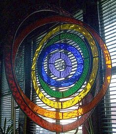 Stained Glass Mobile by Paned Expressions Studios.