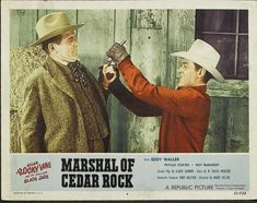 John Crawford and Allan Lane in Marshal of Cedar Rock (1953)