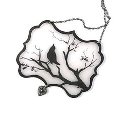 Hey, I found this really awesome Etsy listing at https://www.etsy.com/listing/60954917/bird-silhouette-necklace