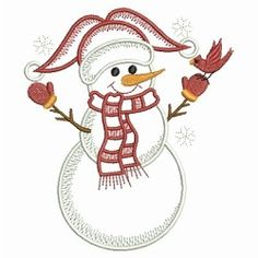 Vintage Snowman 3 - 3 Sizes!   What's New   Machine Embroidery Designs   SWAKembroidery.com Ace Points Embroidery