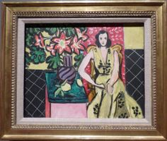 """Henri Matisse, """"Seated Woman with a Vase  of  Amaryllis,"""" 1941. From the William S. Paley collection shown at the Crystal Bridges Museum of American Art."""
