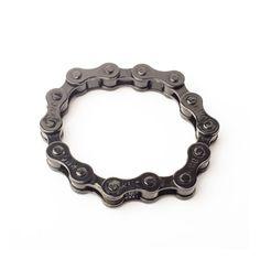 Black bike chain bracelet invisible lock