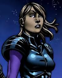 Xavin . . . X-Men.  This one is  a little bit difficult to call, similar to Mystique.  Xavin is a skrull, which is a race of alien beings that can shape shift.  Xavin spends time in male and female form, however she is in a relationship with the lesbian Karolina Dean.  At one point, Xavin, in skrull form, was very upset and transformed into a human female, which Dean thought that she is female at heart.
