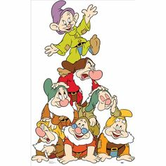 Seven Dwarfs Group Lifesized Standup