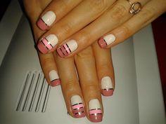 Interesting nails, Nail art stripes, Nails with ribbons, Nails with stripes, Original nails, Ribbon nail art, Spring nail designs, Spring nails 2016