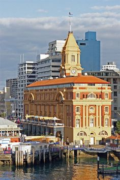 Travel Inspiration for New Zealand - Auckland Ferry Building on the waterfront.