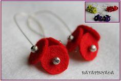 Felt and Stardush Beads Earrings / Pendientes Fieltro