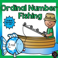 Ordinal Number Fishing Game- 1st to 20th. This fishing game includes a set of 20 brightly coloured fish with the ordinal numbers from 1st -20th. A fun and hands on learning activity for developing ordinal number recognition!How to Make and Play: Print out all pages onto white paper or card.