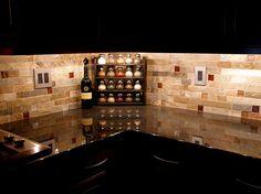 backsplash ideas for ubatuba countertop | via Modern Kitchen Design Ideas