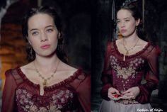 In the tenth episode Lola wears this amazing Hand-Beaded Corset Dress made by Reigns costume dept!