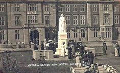 The statue of Queen Victoria at Newcastle RVI, 1906, from the DVD, Newcastle upon Tyne in old picture postcards, by the Six Townships history group