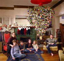 how to hang your christmas tree upside down