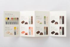 """Packaging for Mme KIKI Chocolat by UMA / Design Farm """"Graphic identity, logo design and packaging design for Mme KIKI Chocolat. Photography by Yoshiro Masuda."""" UMA / Design Farm is a design studio founded in 2007 by Yuma Harada. Food Graphic Design, Menu Design, Banner Design, Flyer Design, Book Design, Layout Design, Pamphlet Design, Leaflet Design, Blog Design Inspiration"""