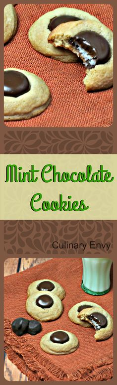 Mint Chocolate Cookies melt-in-your-mouth with a delicious burst of dark chocolate mint flavor!  Crisp on the outside with gooey goodness on the inside. The BEST!