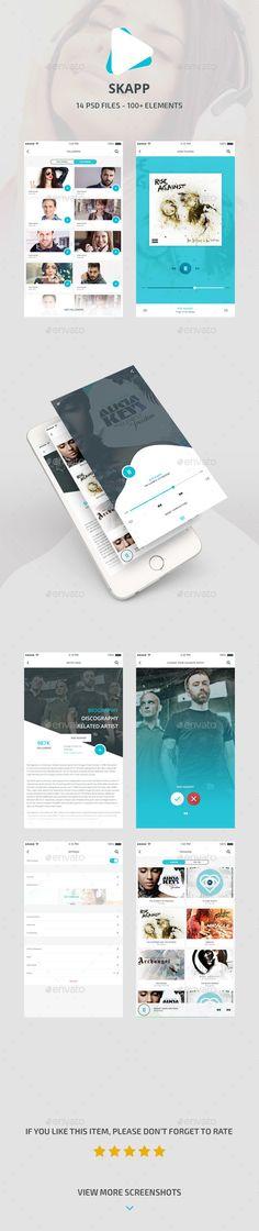 Skapp - Music App Design (User Interfaces)