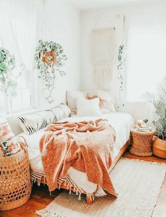 Cute Bedroom Decor, Teen Room Decor, Room Ideas Bedroom, Small Room Bedroom, Bedroom Inspo, Boho Teen Bedroom, Teen Bedrooms, Dream Bedroom, Aesthetic Room Decor