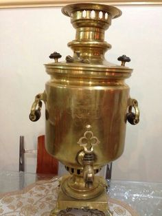 Old Russian handmade samovar 1880 in a very good condition