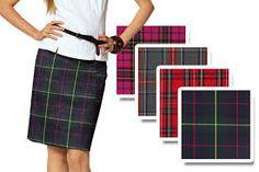 Escocês: tecido originário da Escócia, em Sarja ou Tela xadrez de cores variadas.Também conhecido como Tartan, servia para identificar as varias clãs.