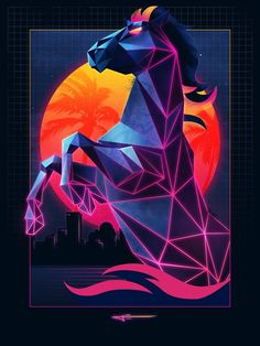 Watch This Design Wiz Make an Epic '80s Neon Laser Horse Step by Step in Photoshop | Adweek