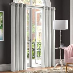 Rosdorf Park Brockham Solid Blackout Thermal Grommet Curtain Panels Curtain Colour: Grey, Size per Panel: x Sectional, Drapes Curtains, Panel Curtains, Rugs, Rod Pocket Curtain Panels, Light Grey Area Rug, Colorful Curtains, Area Rugs, Grommet Curtains