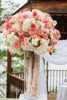 New birch tree wedding decorations rustic centerpieces ideas Ceremony Decorations, Wedding Centerpieces, Wedding Bouquets, Rustic Centerpieces, Centerpiece Ideas, Wedding Tables, Flower Decorations, Wedding Cake, Lakeside Wedding