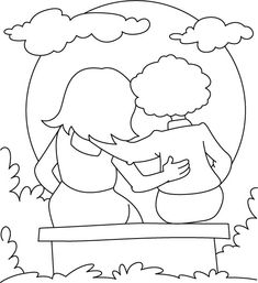 friendship coloring pages - Friendship Coloring Pages For Preschool