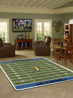 Custom-Mats by Gallant | Custom Mats - San Diego - San Diego Chargers NFL Home Field Rug -