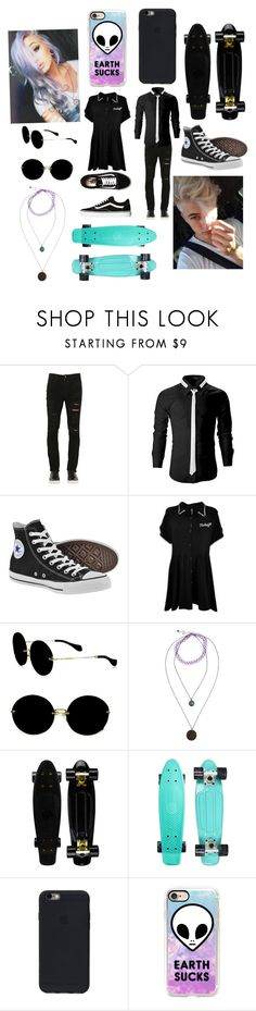 """""""Skate date ❤️"""" by sleeping-horizon-empires ❤ liked on Polyvore featuring Giorgio Brato, Converse, Disturbia, Vans, Miu Miu and Casetify"""