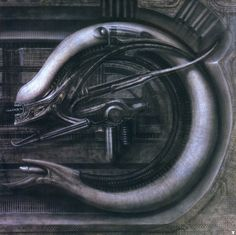 Hans Giger The Swiss surrealist famous for his contribution to the Alien franchise. Astro-Eunuchs, 1967 Li II, 1974 Behemoth Xenomorph in Alien: Necronom IV, 1976 Monster V: Necronom. Hr Giger Art, Alien Vs Predator, Xenomorph, Chur, Concept Art Alien, Cover Art, Giger Alien, 70s Sci Fi Art, Alien Art