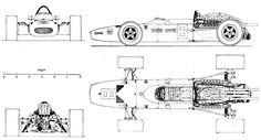 Ferrari 312 blueprint