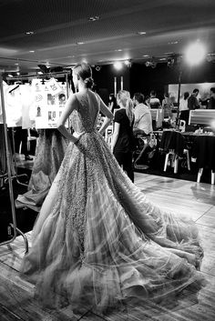 Kate Grigorieva - Backstage at Elie Saab Fall 2014 Couture.