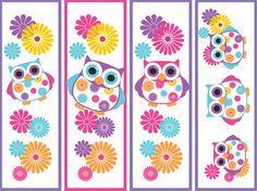 ~printable owl bookmarks