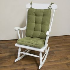 Superior Solid Moss (Green) Tie On Reversible Chair Cushion Set (Moss)
