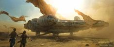 2. Millenium Falcon - Star Wars - top science fiction spaceships