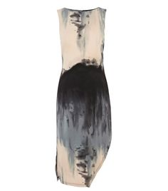 Abstract Print Asymmetric Dress - Is it Helmut Lang? Not quite, but this dreamy tie-dye dress sure looks like it and . Fashion Details, Look Fashion, Fashion Design, Dress Fashion, Fashion Flats, Fashion Outfits, Abstract Print, Abstract Pattern, Vestidos Sport