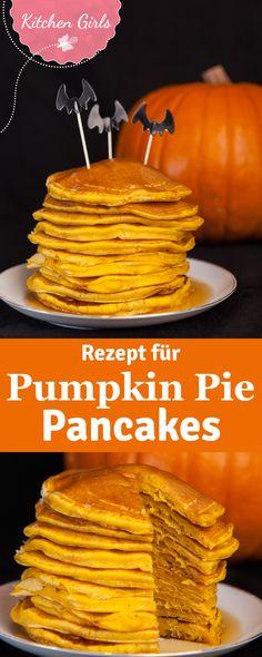 Pancakes mal anders! Wir verraten euch ein einfaches Rezept für original amerikanische Pumpkin Pie Pancakes!