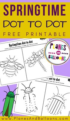 Spring activities for kindergarten - free printable dot to dot worksheets for numbers Great for number recognition. Dot To Dot Printables, Printable Numbers, Free Printable Worksheets, Preschool Printables, Free Printables, Kindergarten Language Arts, Free Kindergarten Worksheets, Learning Numbers Preschool, Number Recognition Activities
