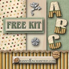 """""""70's striped pants"""" kit from GrannyEnchanted.com.  I absolutely LOVE the alpha in this kit!"""