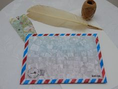 Handmade Diversity Theme C5 Self Seal Airmail Envelopes (Pack of 25) by CranerCreations on Etsy